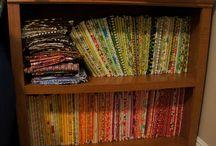 Quilt: Stash Managing/Organising / Managing and organizing a quilt stash and sewing room