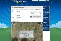 Billion Graves / Collect photos of the headstones in your local cemetery with our iPhone/Android camera app. Then upload the mapped-out photos here.