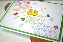 Spring/Summer Handmade Paper Craft Cards / Fun and whimsically cute images to color and play with! Join the Gerda Steiner Designs Community at gsd-stamps.com