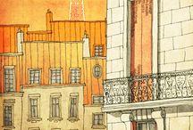 Landscape illustrated