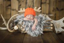 newborn photography rustic / hunting theme