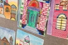 Houses and Buildings / Art Lesson ideas for architecture