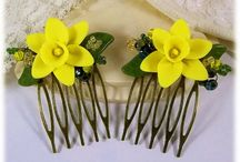 Daffodil Jewelry / I love daffodils! There's so many unique colors and designing my collection with them is extra fun.