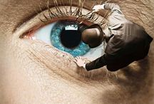 Look Into My Eyes! / Pins of Eyes Artfully Depicted  / by Marion Bryant