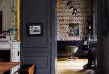 Mur brique salon