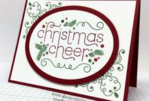 Cheerful Christmas Card Ideas / by Laurie Graham: Avon Rep/Stampin' Up! Demo