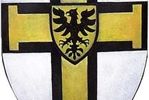 scudi e bandiere crociate