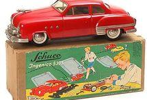 Old tinplate cars