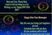 Happy New Year Wishes 2017 / Happy New Year Wishes 2017 includes the new year wishes including all the popular languages. You will find here unique and lovely new year wishes.
