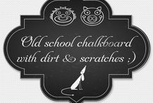 Chalkboard Cliparts / A nice collection of wavy digital chalkboard banners to use in your digital chalkboard art creations. Chalkboard art is really popular right now - these would look lovely on cards, wedding invitations, save-the-dates or as gift tags. Digital *.png files with transparent backgrounds are perfect for digi scrap or blogs. You can even use these for small commercial use :)