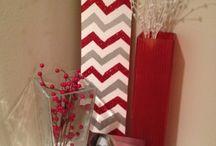 Obývací pokoj červená/hnědá
