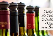 Picking the Perfect Wedding Wine on a Budget / Before you start picking out wines and ordering the glasses, make sure you familiarize yourself with the right wines to stick to the right price.  http://www.kimberleyandkev.com/picking-the-perfect-wedding-wine-on-a-budget/