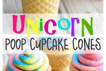 Rainbow Unicorn Party / Bright and colourful rainbow unicorn party ideas