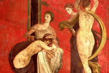Pompeii / Peculiar scenes from Pompeii artistic tradition reproduced on handcrafted stucco - made in Italy!