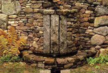 Mur pierre et LAND Art