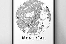 Affiches de villes Canada