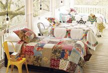 """Quilts / """"Love and memories we impart/ To quilt the fabric of the heart."""" My grandmother was a wonderful seamstress who left us with the beauty of handmade quilts. It's a beautiful gift when someone can transform scraps of cloth into artistic works of love."""