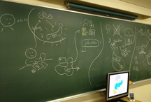 Drawing on the blackboard