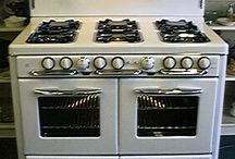 antique gas stove