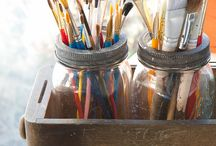 Creative Organization / DIYs, tips and examples of crafting supplies. / by Chellie Hailes