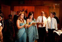 ladies walking in bridal shower