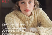 Japanese magazines & books: Let's Knit, Keito Dama etc.