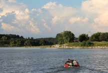 Thousand Hills State Park ~ Kirksville, MO / This 3,215-acre state park has numerous attractions, including a marina, beach, dining lodge, trails, cabins, camping, fishing, and Native American petroglyphs. Spend a day or a week! / by Visit Kirksville ~ Missouri's North Star