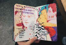 Art journal sketchbook