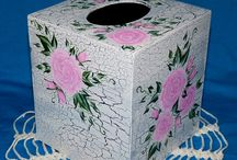 Decorative Hand Painted Boutique Tissue Box