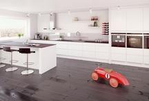 Kitchen/ Kjøkken / Inspirasjon, kjøkkenbord/spisebord, farge til vegg og type gulv