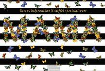Wenskaarten collectie 'BUTTERFLY' KendieKaart by MOK STUDIO / Wenskaarten - Greeting cards