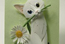 kočičky z papiru