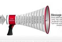 Funnel Graphics / Use megaphone graphics as a metaphor for announcing or communicating your processes, solutions, or goals.