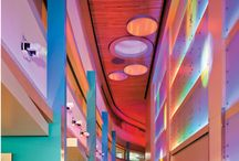 Healthy Space Design in Vivid Colors / The mix of new technologies and vivid colors to vitalize and invigorate. It makes you feel more energetic and lifts your mood. Health-improvement trend