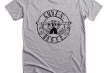 New GUNS N ROSES AXL Slash Rock Band Short Sleeve Grey T-Shirt Size S-3XL