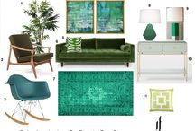 Mood Boards / Design inspiration for the home featuring furniture and home decor.
