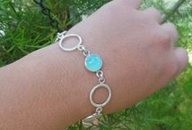 Handmade gemstone bracelets / One of a kind artisan bracelets, collection of handmade bacelets made in sterling silver and gold.