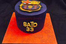 Fc barcelone cake