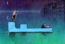 Pawel Kuczynski / Pawel Kuczynski è un artista polacco che nelle sue illustrazioni si occupa di tutto ciò che circonda l'umanità, dai social media alla povertà, passando per la guerra e la politica, con una satira pungente. Sovvertendo i canoni tradizionali, mette in discussione le abitudini quotidiane di ognuno e il comune modo di pensare, creando così immagini tanto provocatorie quanto paradossali.