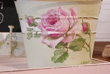 Målade rosor