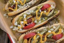 FOOD: Burgers/Dogs/Sausage / BBQ anyone?  I think it's picnic time! / by Snappy Gourmet (Lisa Huff)