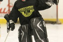 Puckstoppers Displaying Perfect Stance - Balance / Goalies who are in perfect balance.