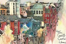 city sketches