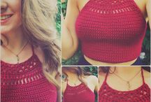 knitting crop top