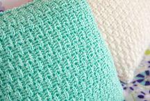 Crochet pillow covers