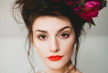 Queer femme photo shoot flowers