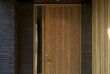 Barcode Exterior Door / A JE-Trae exterior door in light oak designed by Lars Vejen. Barcode has vertical grooves varying in size which is reminiscent of a barcode. Photos by Jakob Lerche.