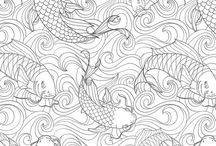 Zen colouring pages