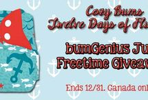 GIVEAWAYS! ENTER TO WIN AT COZY BUMS!