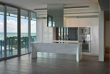 FOR SALE ~ Glass #900 / SWEEPING OCEAN, SOUTH BEACH & CITY OF MIAMI VIEWS FROM FULL FLOOR UNIT AT GLASS! South of 5th Street's Newest Building by Rene Gonzalez. 2,005 sf Wraparound balcony in Fritted Glass. Italkraft Kitchen wrapped in Calcutta Marble w SubZero + Gaggeneau Appliances; Wine Bar; Walnut Wood & Basaltina Lava Stone Flooring; Open Master Bath in Arabescato Marble; Ornare Closets | $9,500,000 | www.glass900.com